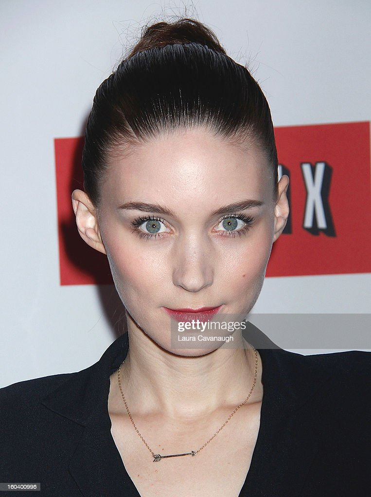 Rooney Mara attends the 'House Of Cards' premiere at Alice Tully Hall on January 30, 2013 in New York City.