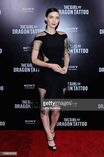 Rooney Mara attends the 'The Girl With the Dragon Tattoo' New York premiere at Ziegfeld Theater on December 14 2011 in New York City