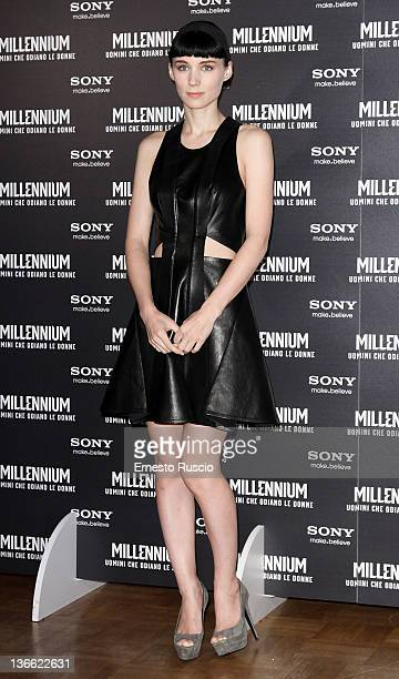 Rooney Mara attends the 'The Girl With The Dragon Tattoo' photocall at St Regis hotel on January 9 2012 in Rome Italy