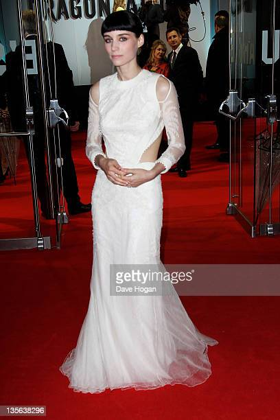 Rooney Mara attends the world premiere of The Girl With The Dragon Tattoo at The Odeon Leicester Square on December 12 2011 in London United Kingdom