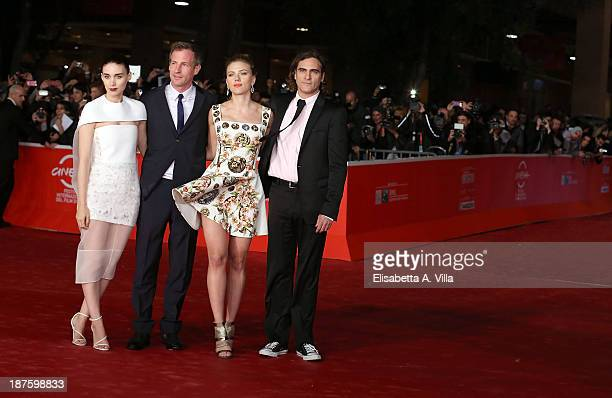 Rooney Mara director Spike Jonze Scarlett Johansson and Joaquin Phoenix attend the 'Her' Premiere during The 8th Rome Film Festival on November 10...