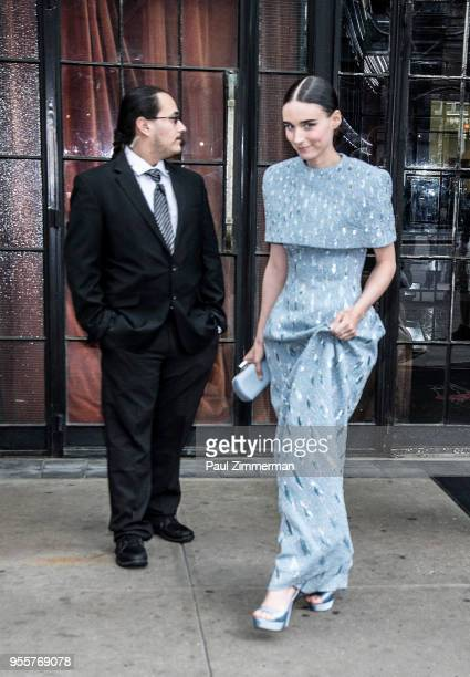 Rooney Mara is seen arriving to Heavenly Bodies Fashion The Catholic Imagination Costume Institute Gala Sightings at the Bowery Hotel on May 7 2018...