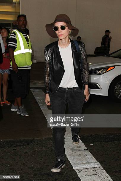 Rooney Mara is seen at LAX on June 08 2016 in Los Angeles California