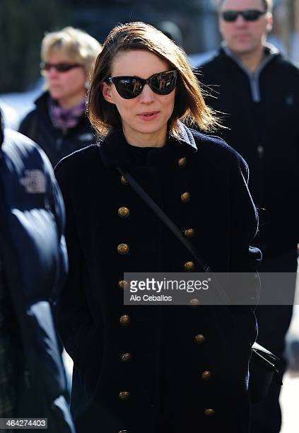 Rooney Mara is seen at Sundance Festival on January 21 2014 in Park City Utah