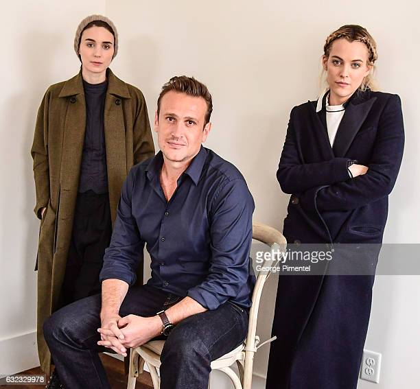 Rooney Mara Jason Segel and Riley Keough pose at the The Discovery Portrait Session on January 21 2017 in Park City Utah