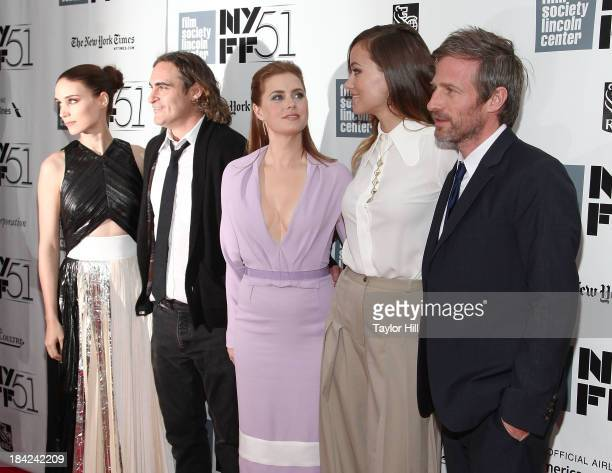Rooney Mara Joaquin Phoenix Amy Adams Olivia Wilde and Spike Jonze attend the Closing Night Gala Presentation Of Her during the 51st New York Film...