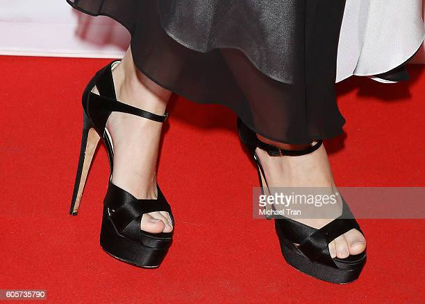 Rooney Mara shoe detail arrives at the 2016 Toronto International Film Festival 'Una' premiere held at Princess of Wales Theatre on September 14 2016...