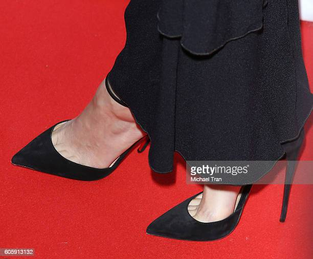 Rooney Mara shoe detail arrives at the 2016 Toronto International Film Festival 'The Secret Scripture' premiere held at Roy Thomson Hall on September...
