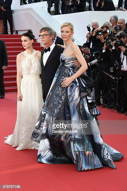 Rooney Mara Todd Haynes and Cate Blanchett attend the Carol Premiere during the 68th annual Cannes Film Festival on May 17 2015 in Cannes France