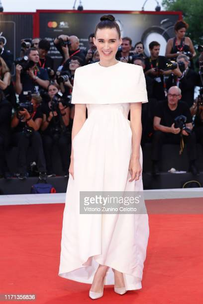 Rooney Mara walks the red carpet ahead of the Joker screening during the 76th Venice Film Festival at Sala Grande on August 31 2019 in Venice Italy