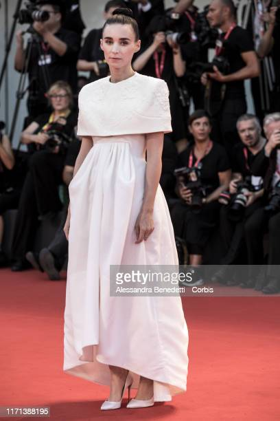 """Rooney Mara walks the red carpet ahead of the """"Joker"""" screening during the 76th Venice Film Festival at Sala Grande on August 31, 2019 in Venice,..."""