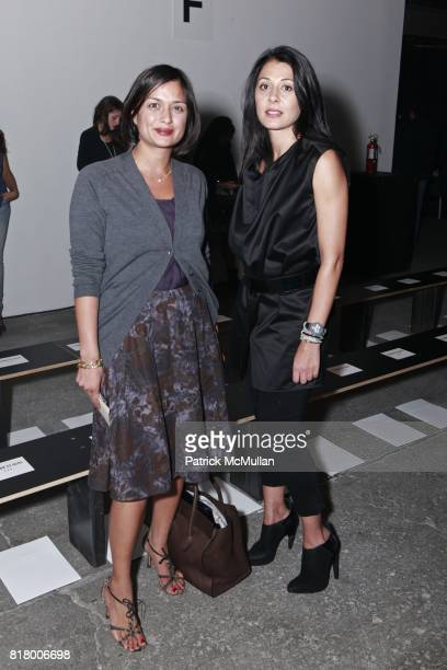 Roopal Patel and Aida Khoursheed attend CUSHNIE ET OCHS Spring 2011 Fashion Show at Eyebeam on September 9 2010 in New York City