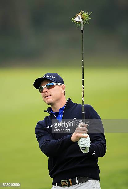 Roope Kakko of Finland during the second round of the European Tour qualifying school final stage at PGA Catalunya Resort on November 13 2016 in...
