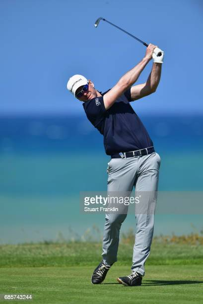 Roope Kakko of Finland tees off during day three of The Rocco Forte Open at Verdura Golf and Spa Resort on May 20 2017 in Sciacca Italy