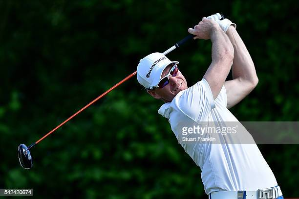 Roope Kakko of Finland tees off during the first round of the BMW International Open at Gut Larchenhof on June 23 2016 in Cologne Germany