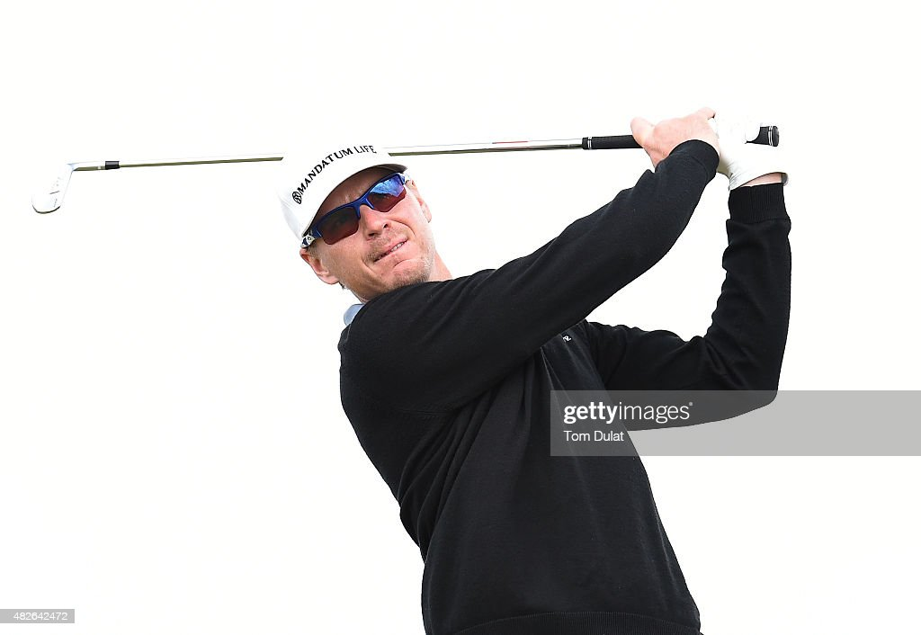 Roope Kakko of Finland tees off from the 1st hole during day three of the Madeira Islands Open - Portugal - BPI at Club de Golf do Santo da Serra on August 1, 2015 in Funchal, Madeira, Portugal.