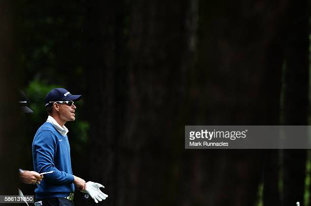 Roope Kakko of Finland waits to play his tee shot on hole 11 on day two of the Aberdeen Asset Management Paul Lawrie Matchplay at Archerfield Links...