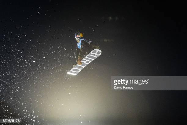 Roope Tonteri of Finland competes in the Men's Snowboard Big Air final on day ten of FIS Freestyle Ski Snowboard World Championships 2017 on March 17...