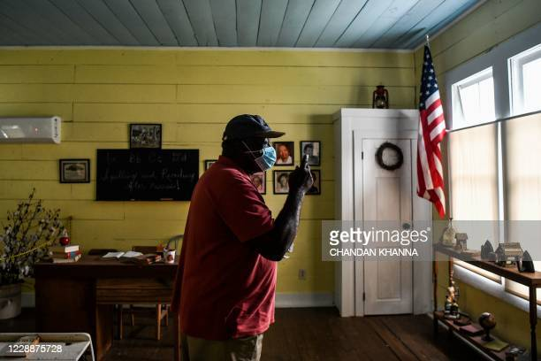Roosevelt Cruel stands inside an old school turned museum of African American Culture in Fayette, Jefferson County, Mississippi on September 28,...