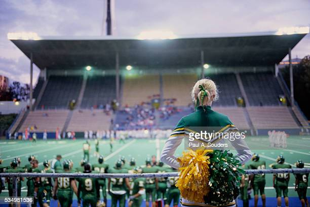 Roosevelt High School Cheerleader Watching Game
