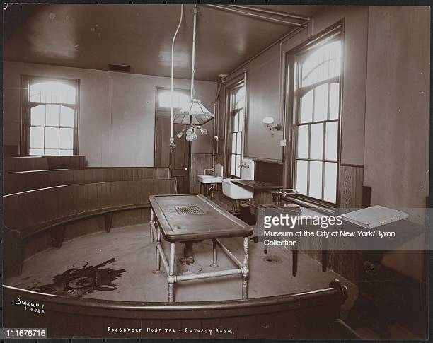 Roosevelt Hospital Autopsy Room New York New York late 1890s