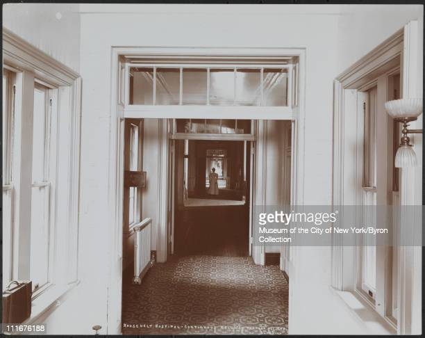 Roosevelt Hospital Continuous Hallway Through All the Bldgs New York New York late 1890s