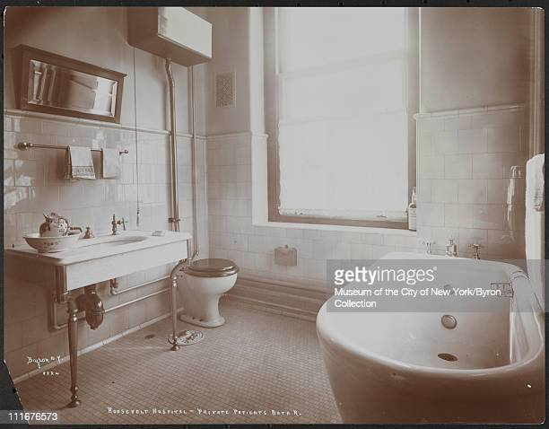Roosevelt Hospital, Private Patient's Bath R, New York, New York, late 1890s.