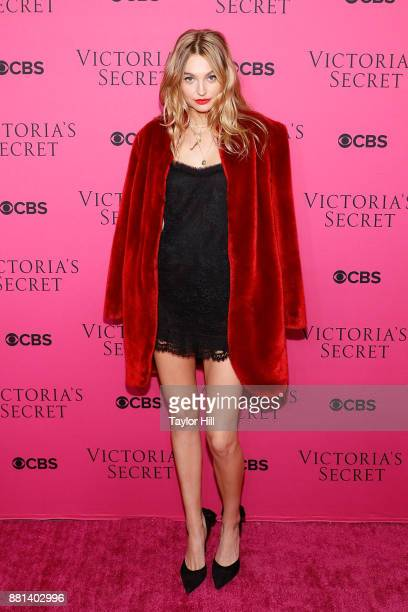 Roosmarijn de Kok attends the Victoria's Secret Viewing Party Pink Carpet celebrating the 2017 Victoria's Secret Fashion Show in Shanghai at Spring...