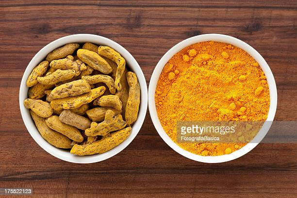 Root and ground turmeric