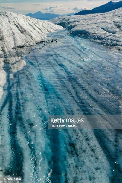 Root Glacier Alaska Icy Moulin