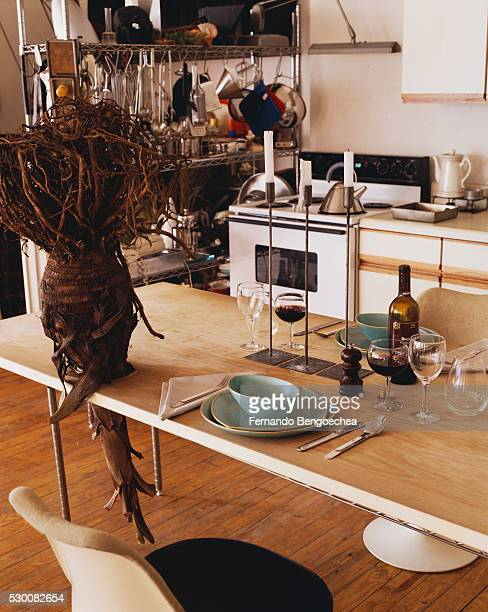 Root Sculpture Piercing Kitchen Table