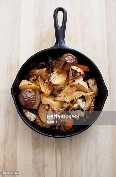 Root Vegetable Bake in Cast Iron Skillet