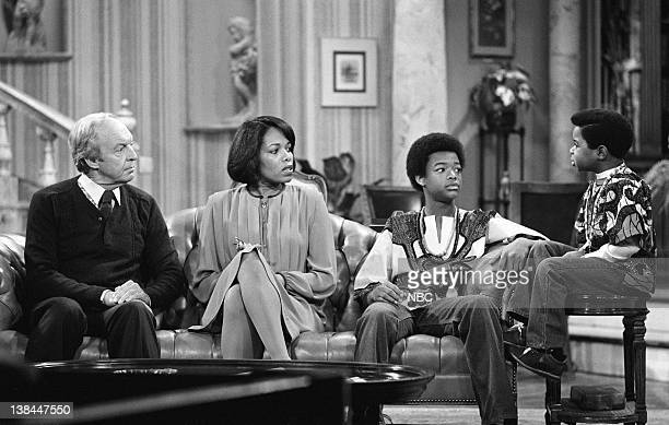 RENT STROKES Roots Episode 12 Pictured Conrad Bain as Philip Drummond Lee Chamberlin as Dr Chadway Todd Bridges as Willis Jackson Gary Coleman as...