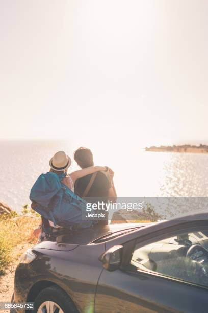 ropad trip summer love - road trip stock photos and pictures