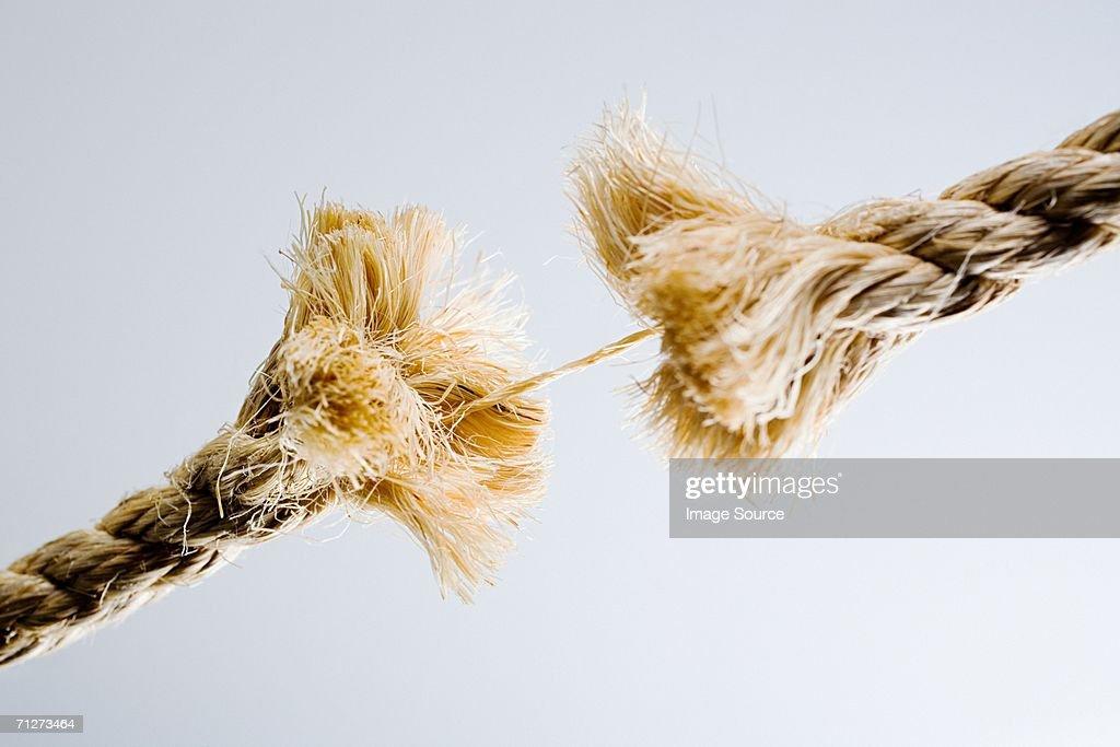 Rope breaking : Stock Photo
