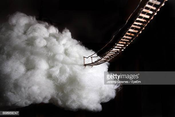 Rope Bridge Leading To Cotton Cloud