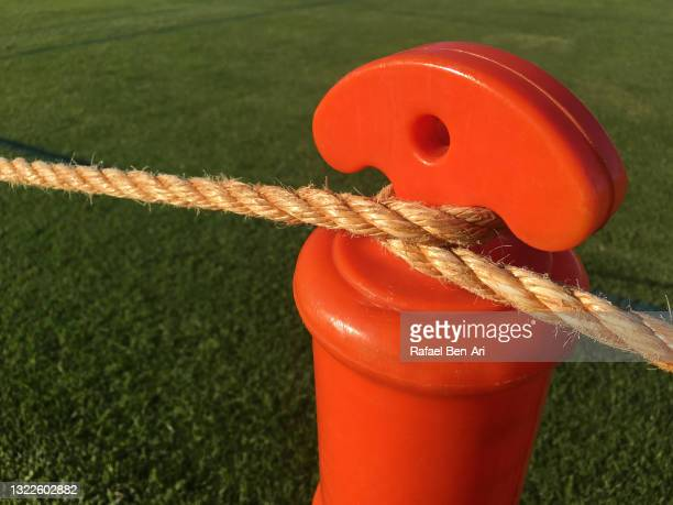 rope fence barrier post - rafael ben ari stock pictures, royalty-free photos & images