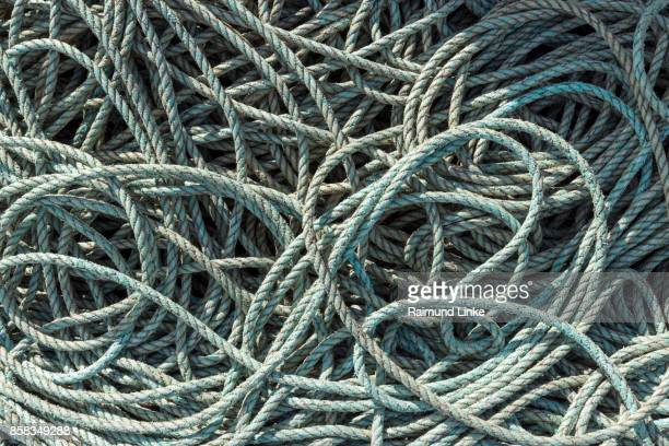 Rope in harbor, Seahouses, Northumberland, United Kingdom