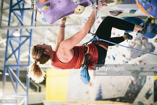 Rope indoor climbing and training.