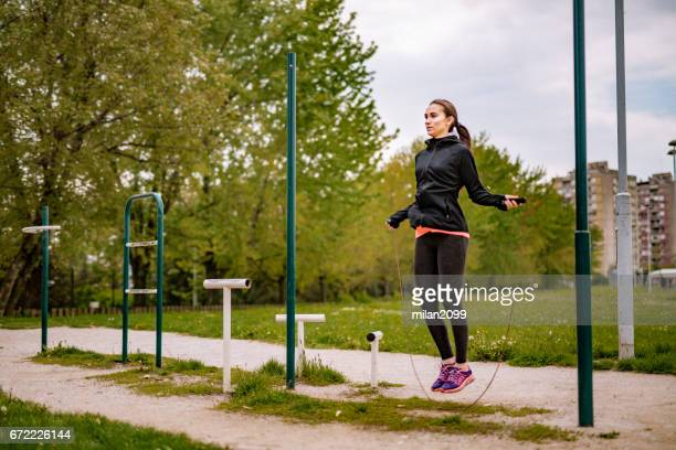 rope jumping - skipping along stock pictures, royalty-free photos & images
