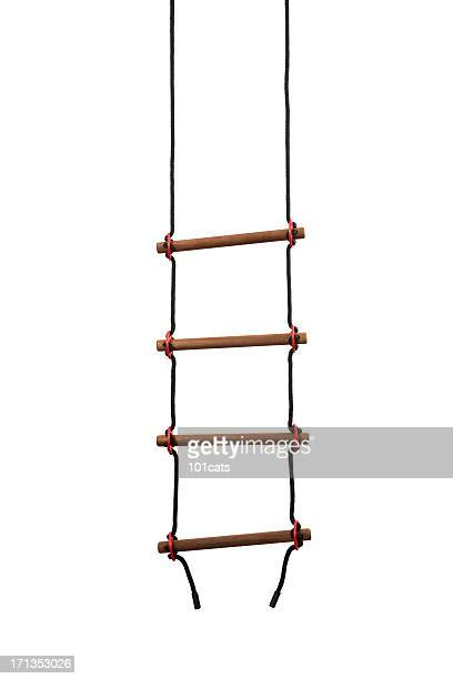 rope ladder - ladder stock pictures, royalty-free photos & images
