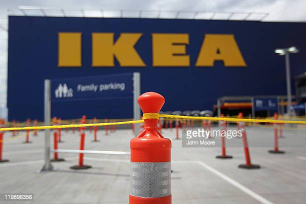 Rope lines await shoppers ahead of the grand opening of the new Ikea home furnishings store on July 26 2011 in Centennial Colorado Some shoppers...