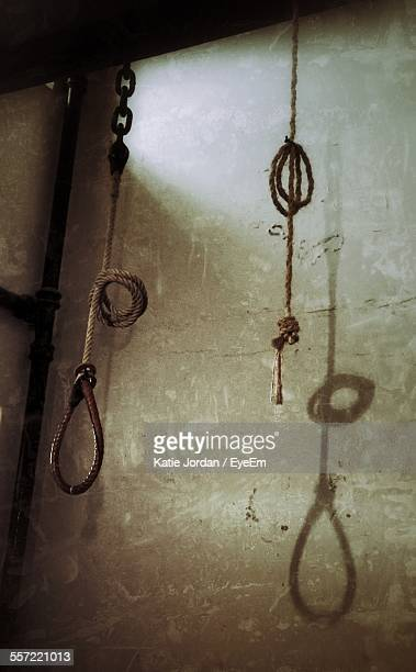 rope noose hanging in crumlin road gaol - execution stock pictures, royalty-free photos & images