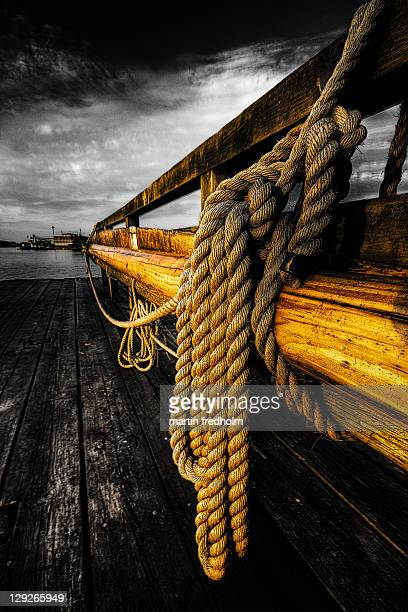 Rope on jetty