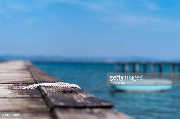 Rope on  pontoon