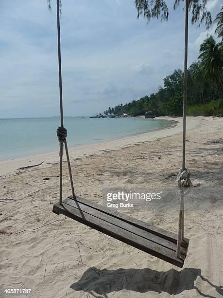 Rope Swing On A Beach