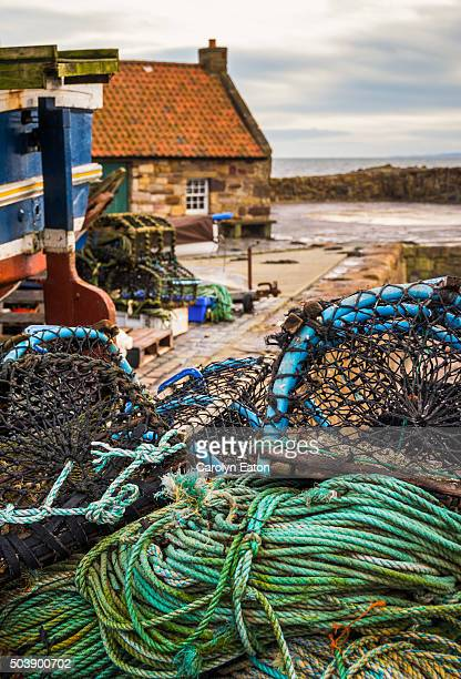 Ropes and Lobster Pots on the dockside, Pittenweem, Fife, Scotland