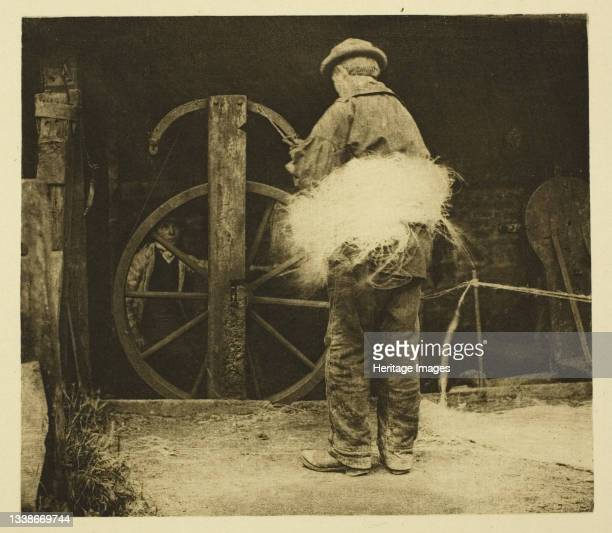 Rope-Spinning, 1887. A work made of photoetching, pl. Xix from the album 'wild life on a tidal water: the adventures of a house-boat and her crew' ;...