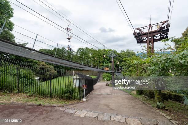 ropeway to matsuyama castle - matsuyama ehime stock pictures, royalty-free photos & images