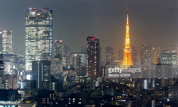 roppongi by night - roppongi hills stock pictures, royalty-free photos & images